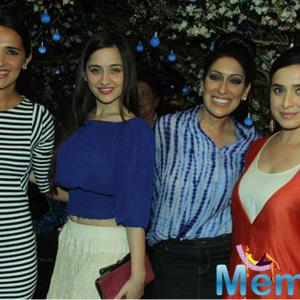 Tara Sharma,Sanjeeda Sheikh,Maheka Mirpuri And Simone Singh Posed During Maheka Mirpuri Summer Resort Preview