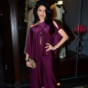 Bhagyashree At Designer Amy Billimoria's Store Launch In Mumbai
