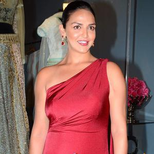 Esha Deol With Red Hot At Launch Of Fashion Designer Amy Billimoria House Of Design Store
