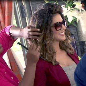 Sunny Leone Set Her Hair During The Shooting Sets Of Beiimaan Love