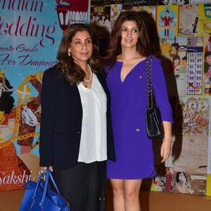 Dimple Kapadia Who Rocked A Monochrome Look Seen With Her Ever Stylish Daughter And Writer Twinkle Khanna