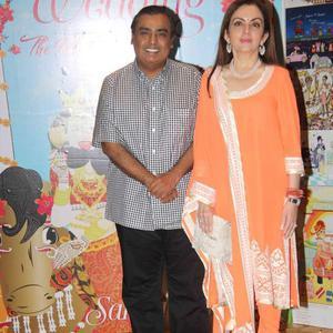 Mukesh Ambani Posed With Wife Nita Ambani At Sakshi Salve Book Launch Event