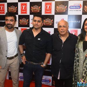 Ajaz Khan,Mohit Suri,Mahesh Bhatt And Pooja Bhatt Clicked On Red Carpet At Suron Ke Rang Color Ke Sang Musical Event
