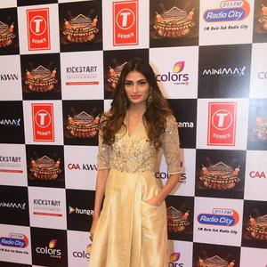 Athiya Shetty Posed On Red Carpet At Suron Ke Rang Color Ke Sang Musical Event