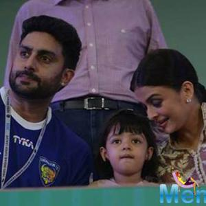 Abhi, Aish And Aradhya At The Opening Ceremony Of ISL 2