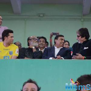 Big B, Jaya, Sachin Rajinikanth And Mukesh Ambani At Opening Ceremony Of ISL 2