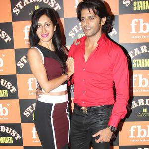 Karanvir Bohra And Wife Teejay Sidhu Posed For Camera At The Launch Of Stardust Starmaker