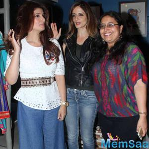 Twinkle Khanna With Her Friends At New Store Launch In Mumbai
