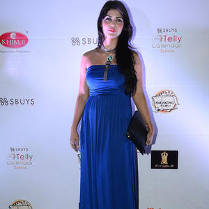 Sayantani Ghosh Dazzling Look In Strapless Blue Gown At The Telly Calendar Launch