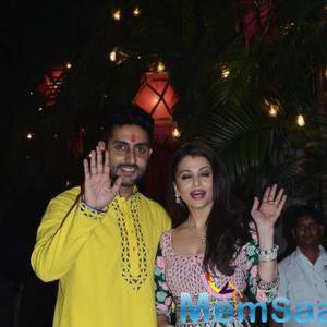 Aish And Abhi Says Hi Their Fans During Diwali Bash