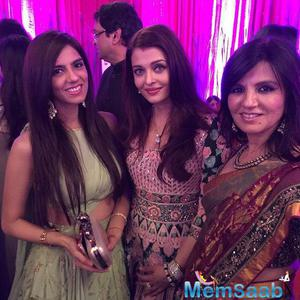 Aish Pose Her Designer Friends Neeta And Nishka During Diwali Bash