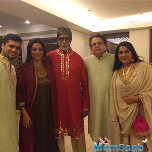 Big B Celebrated Diwali With Family And Friends