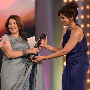 Sonali Kulkarni Receives The Best Actress Award For Her Film