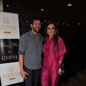 Kabir Khan With Wife Mini Mathur During The Launch Of Shaheen Abbas Collection In Gehna Store