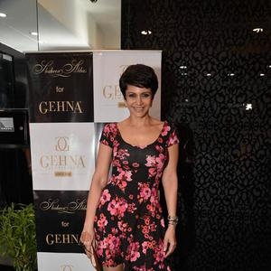Mandira Bedi Cool Look At Shaheen Abbas Collection Launch In Gehna Store