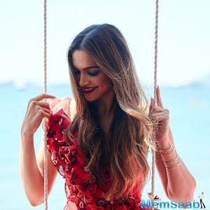 Deepika Padukone is killing it in red in her latest ad shoot at Paris