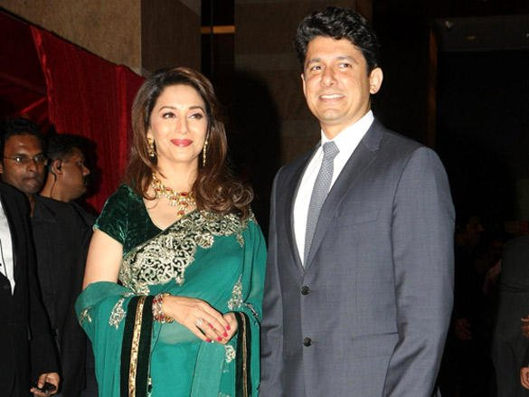 Madhuri Dixit at Riteish and Genelia's reception