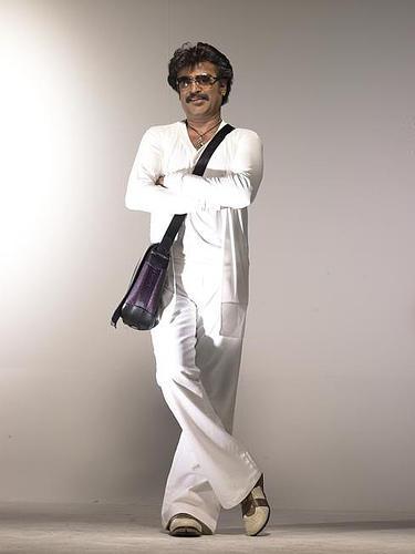 Rrajinikanth  white pent shirt stylist pic