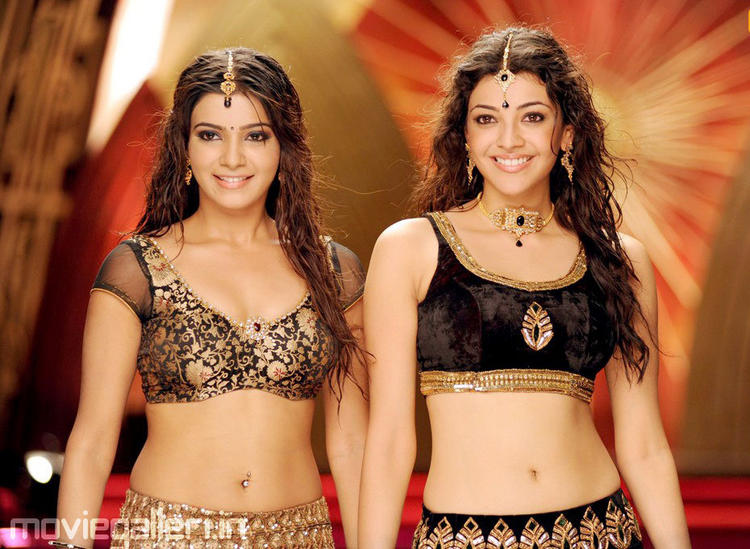 kajal agarwal and samantha sexy navel stills