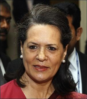 Sonia Gandhi Sweet Smile Pic