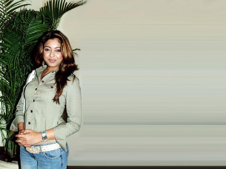 Tanushree Dutta Sweet Still With Shirt and Jeans