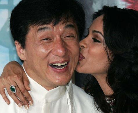Mallika Sherawat kiss Jackie Chan