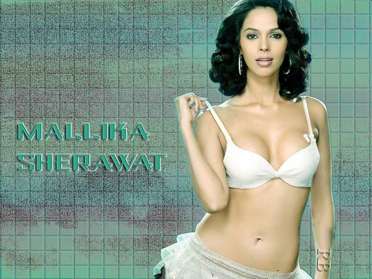 Mallika Sherawat hot bikini wallpaper