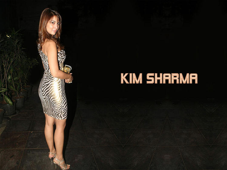 Kim Sharma in tight dress spicy pose