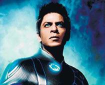 Blue eye of Shahrukh Khan at Ra.One