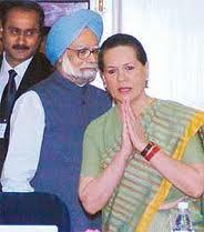 Sonia Gandhi and Manmohan Singh Photo