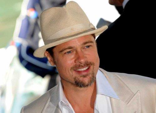 Brad Pitt cute hat still