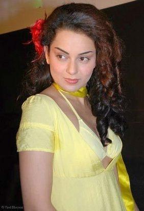Kangana Ranaut yellow color bikini dress still