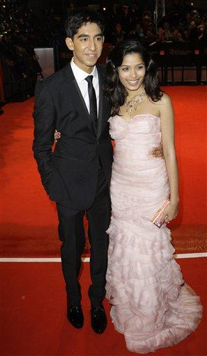 Dev Patel and Freida Pinto Amazing Gown Still
