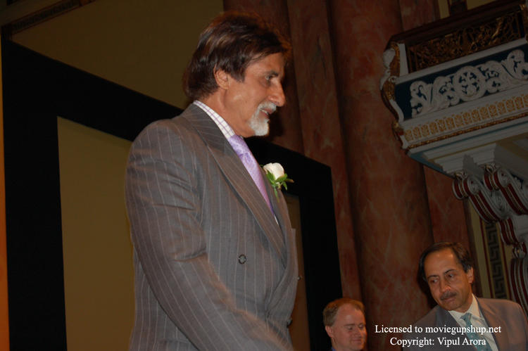 Amitabh Bachchan inaugrating a magazine