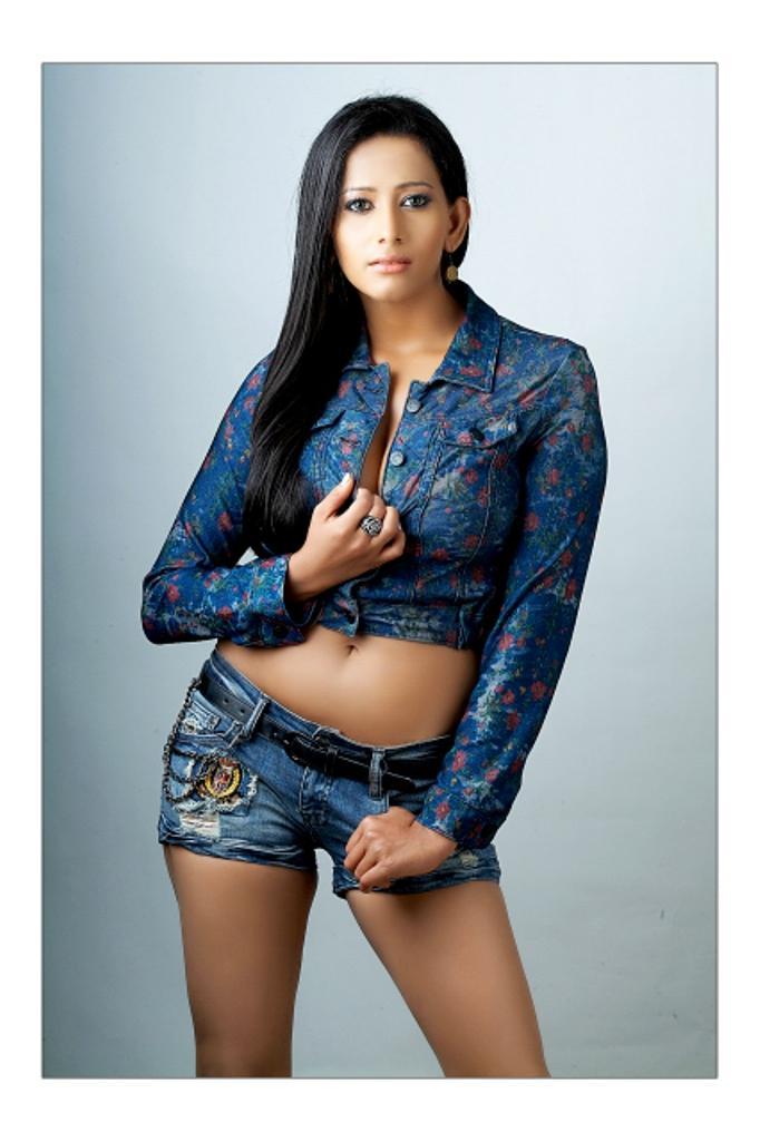 Sanjana singh mini dress spicy stills