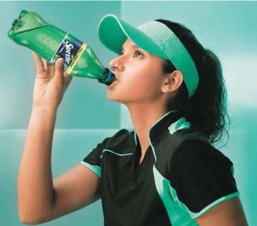 Sania Mirza posing for Sprite Ads