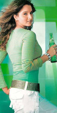 Sania Mirza hot in Sprite Advertisement