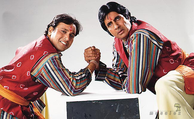 Govinda and Amitabh cute still in Bade Miyan Chote Miyan