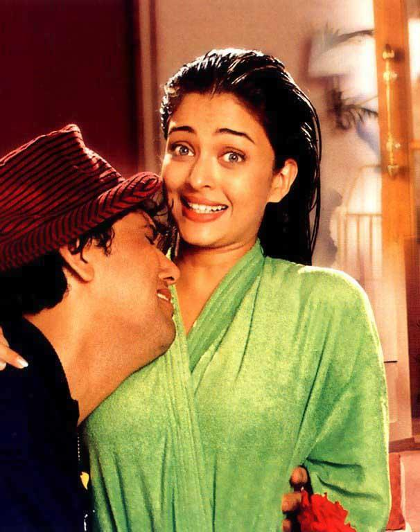Govinda and Aishwarya latest hot kiss still