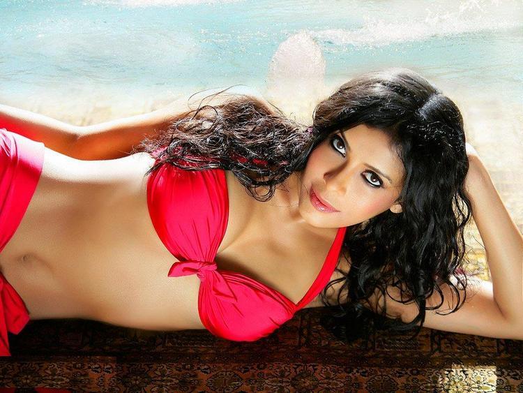 Nandana Sen in Red Bikini