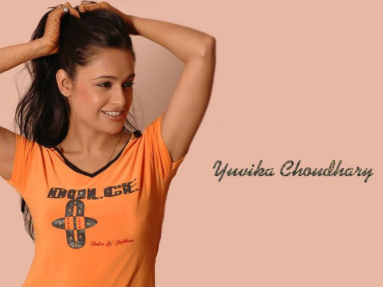 Yuvika Choudhary  spicy hot wallpaper