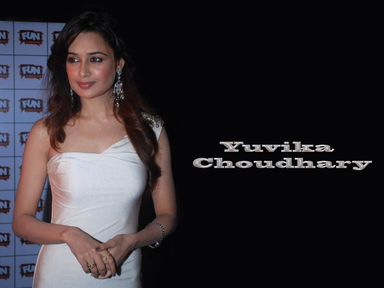 Yuvika Choudhary in white dress hot still