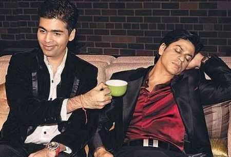 Karan Johar with his friend Shahrukh Khan