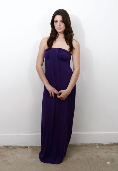 Ashley Greene blue color dress photos