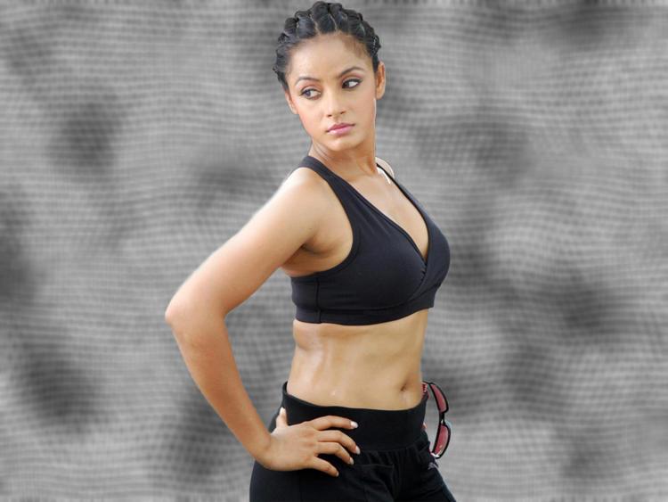 Neetu Chandra in bikini hot wallpaper