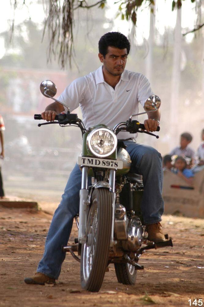 Ajith Poorna Market movie bike still