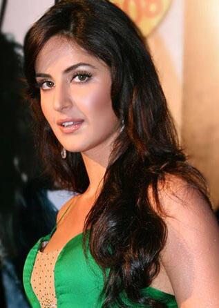 katrina kaif  hot look with green color dress
