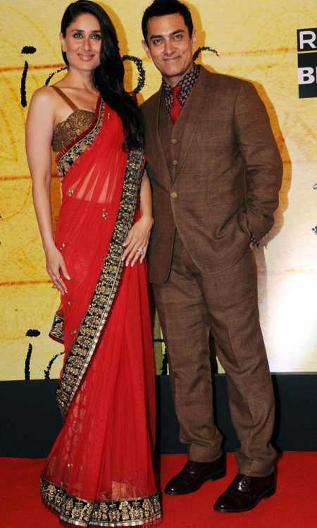 Aamir Khan and kareena kapoor red saree pic