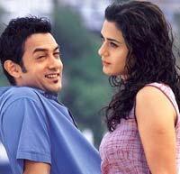 Aamir Khan and preity zinta cute photo
