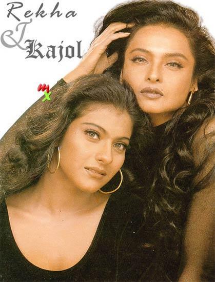 Rekha and Kajol spicy wallpaper